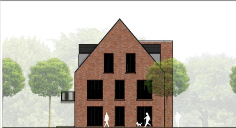 Altes Haus beziehungweise Baugrundstück mit Projekt